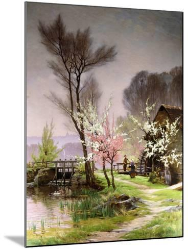At the Watermill, Spring-Henri Saintain-Mounted Giclee Print