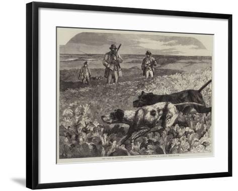 The First of September, Partridge-Shooting-Harrison William Weir-Framed Art Print