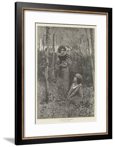 Gathering Ivy for Ball Dresses-Hector Caffieri-Framed Art Print