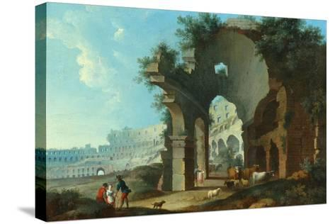 The Colosseum at Rome-Hendrik Van Lint-Stretched Canvas Print