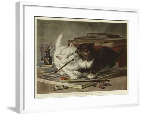 A Disagreement Upon a Point of Art-Henriette Ronner-Knip-Framed Art Print
