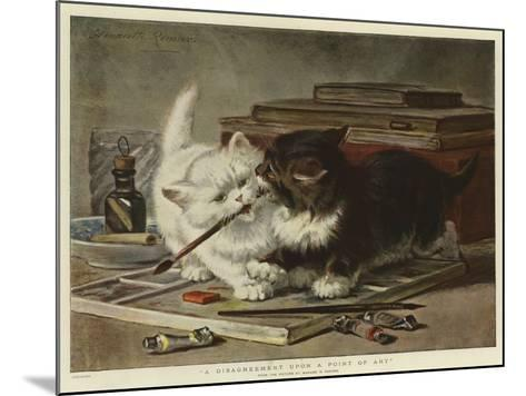 A Disagreement Upon a Point of Art-Henriette Ronner-Knip-Mounted Giclee Print