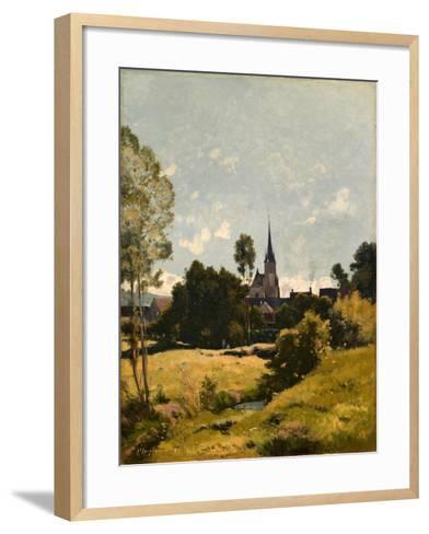 The Village Church, 1891-Henri-Joseph Harpignies-Framed Art Print