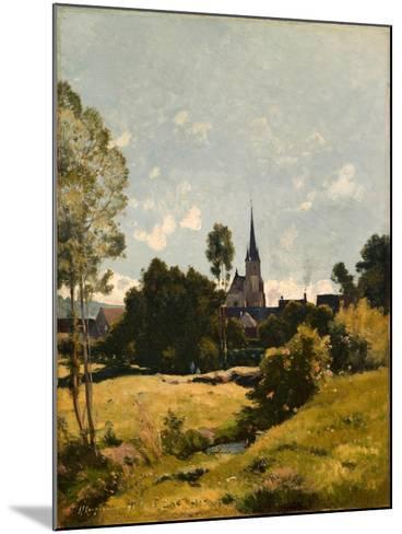 The Village Church, 1891-Henri-Joseph Harpignies-Mounted Giclee Print