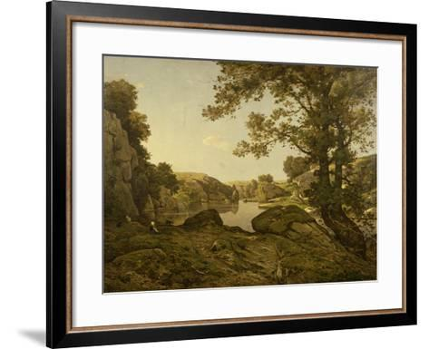 Le Saut De Loup-Henri-Joseph Harpignies-Framed Art Print