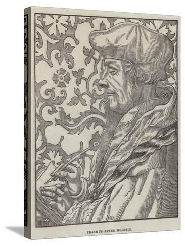 Erasmus-Hans Holbein the Younger-Stretched Canvas Print