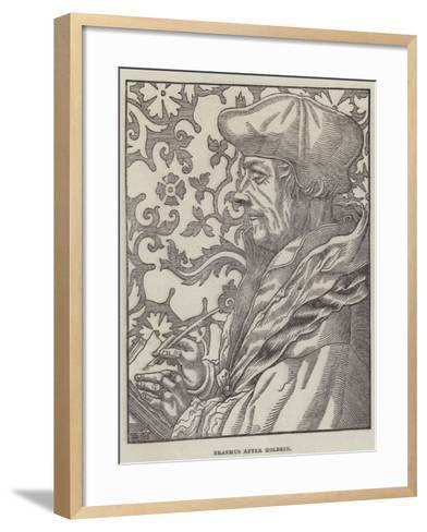 Erasmus-Hans Holbein the Younger-Framed Art Print