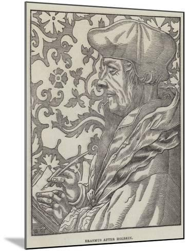 Erasmus-Hans Holbein the Younger-Mounted Giclee Print