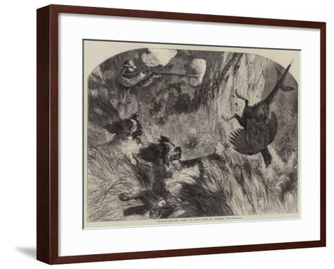 Pheasant-Shooting, Right and Left-Harrison William Weir-Framed Art Print