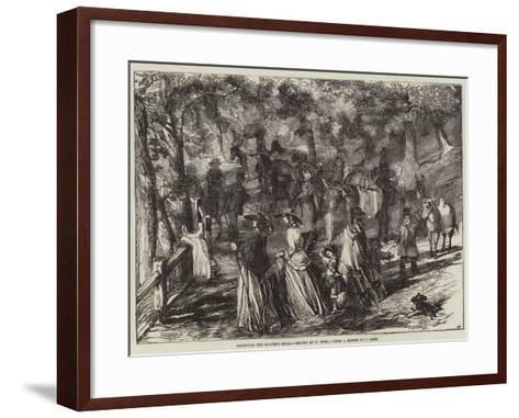 Ascending the Malvern Hills-Harrison William Weir-Framed Art Print