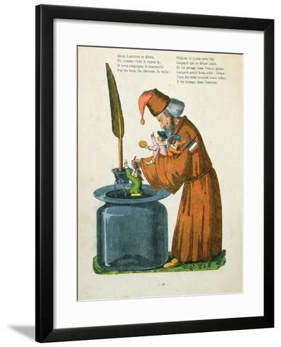 L'Histoire Des Enfants Noirs' from the French Translation of Hoffmann's 'Struwelpeter' Made by Trim-Heinrich Hoffmann-Framed Art Print