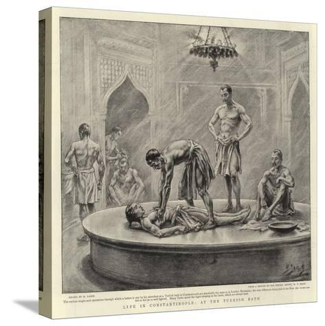 Life in Constantinople, at the Turkish Bath-Henri Lanos-Stretched Canvas Print