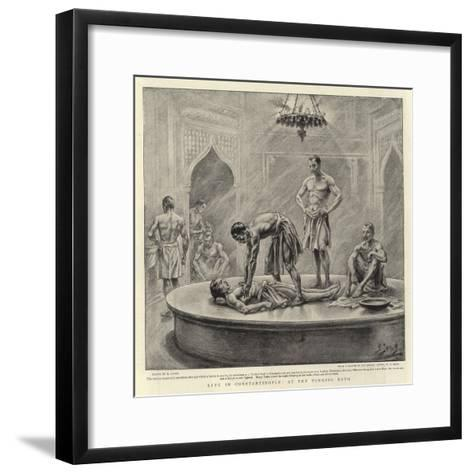 Life in Constantinople, at the Turkish Bath-Henri Lanos-Framed Art Print
