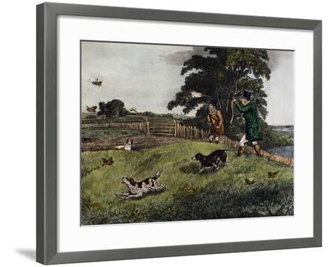 Partridge Hunting, 1835-Henry Alken-Framed Art Print