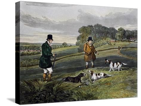 Partridge Hunting, 1835-Henry Alken-Stretched Canvas Print