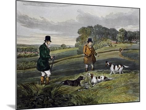 Partridge Hunting, 1835-Henry Alken-Mounted Giclee Print