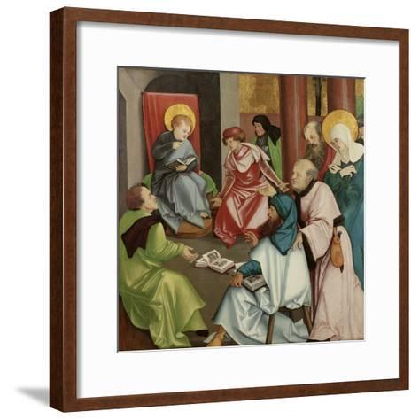 Christ in the Temple, C.1510-30-Hans Leonard Schaufelein-Framed Art Print