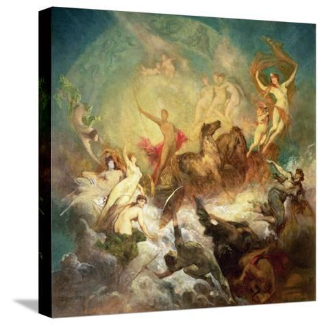 Victory of Light over Darkness, 1883-84-Hans Makart-Stretched Canvas Print
