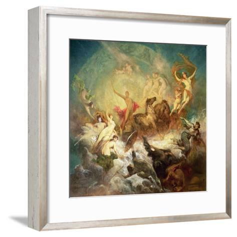 Victory of Light over Darkness, 1883-84-Hans Makart-Framed Art Print