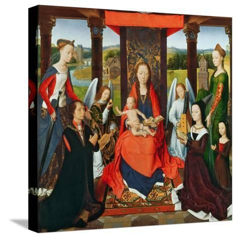 The Virgin and Child with Saints and Donors, a Panel from 'The Donne Triptych' C.1478 (Oil on Oak)-Hans Memling-Stretched Canvas Print