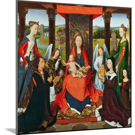 The Virgin and Child with Saints and Donors, a Panel from 'The Donne Triptych' C.1478 (Oil on Oak)-Hans Memling-Mounted Giclee Print