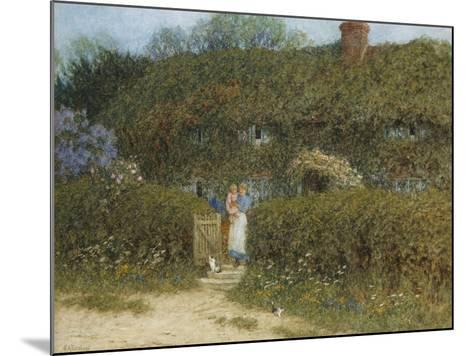 A Cottage at Freshwater, Isle of Wight (Watercolour and Bodycolour Heightened with Scratching Out)-Helen Allingham-Mounted Giclee Print