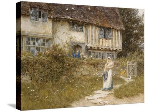 Beside the Old Church Gate Farm, Smarden, Kent (Watercolour with Scratching Out)-Helen Allingham-Stretched Canvas Print