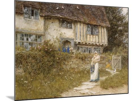 Beside the Old Church Gate Farm, Smarden, Kent (Watercolour with Scratching Out)-Helen Allingham-Mounted Giclee Print