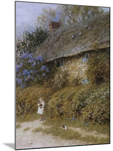 Old Cottage at Freshwater, Isle of Wight (Watercolour with Scratching Out)-Helen Allingham-Mounted Giclee Print