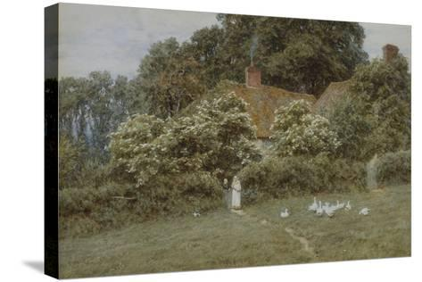 A Cottage at Farringford, Isle of Wight-Helen Allingham-Stretched Canvas Print