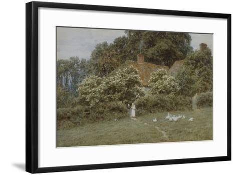 A Cottage at Farringford, Isle of Wight-Helen Allingham-Framed Art Print