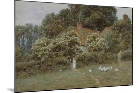 A Cottage at Farringford, Isle of Wight-Helen Allingham-Mounted Giclee Print