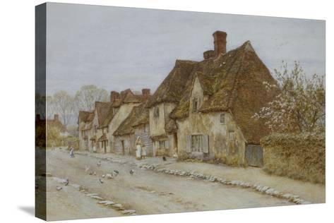 A Village Street, Kent-Helen Allingham-Stretched Canvas Print