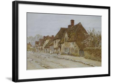 A Village Street, Kent-Helen Allingham-Framed Art Print