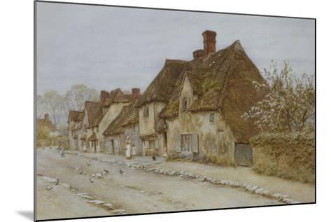 A Village Street, Kent-Helen Allingham-Mounted Giclee Print