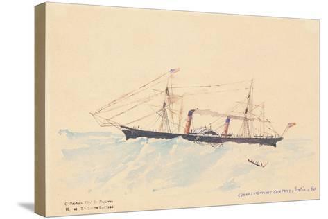 Scotia', a Cunard Steamship, C.1879-80-Henri de Toulouse-Lautrec-Stretched Canvas Print