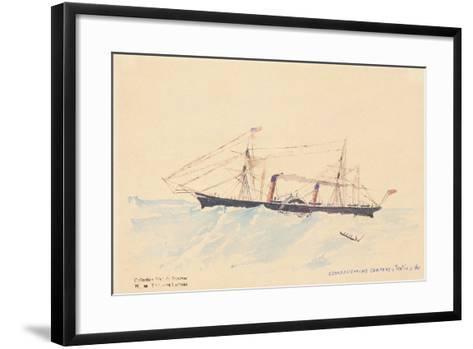 Scotia', a Cunard Steamship, C.1879-80-Henri de Toulouse-Lautrec-Framed Art Print