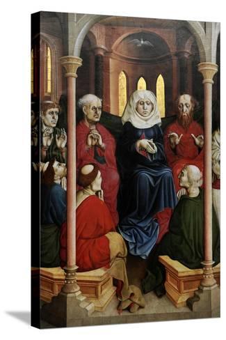 Wurzach Altarpiece, 1437. Pentecost by Hans Multscher (1400-1467)-Hans Multscher-Stretched Canvas Print