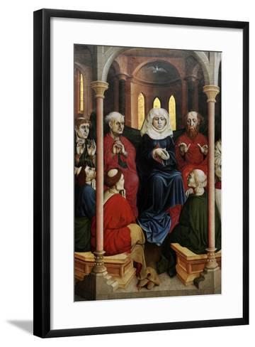 Wurzach Altarpiece, 1437. Pentecost by Hans Multscher (1400-1467)-Hans Multscher-Framed Art Print