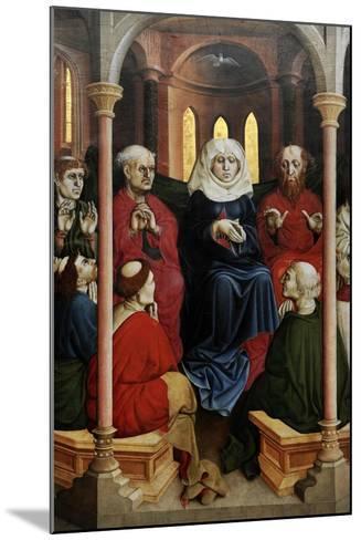 Wurzach Altarpiece, 1437. Pentecost by Hans Multscher (1400-1467)-Hans Multscher-Mounted Giclee Print