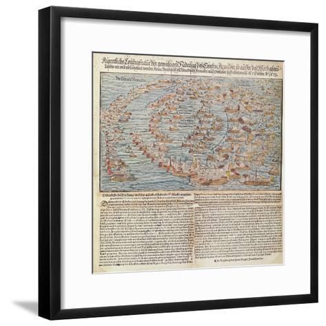 The Battle of Lepanto-Hans Rogel-Framed Art Print