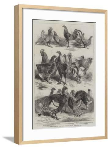 Prize Birds at the Poultry and Pigeon Show Recently Held at Birmingham-Harrison William Weir-Framed Art Print