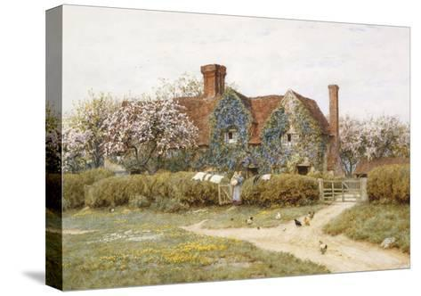 A Buckinghamshire House at Penstreet-Helen Allingham-Stretched Canvas Print