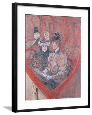 Study for La Grande Loge, 1896-Henri de Toulouse-Lautrec-Framed Art Print