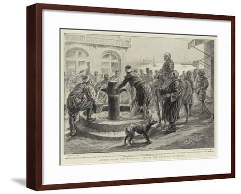 Armenia after the Massacres, around the Fountain at Mersina-Henri Lanos-Framed Art Print