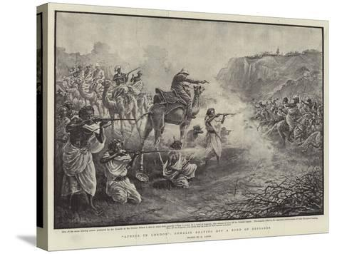 Africa in London, Somalis Beating Off a Band of Brigands-Henri Lanos-Stretched Canvas Print