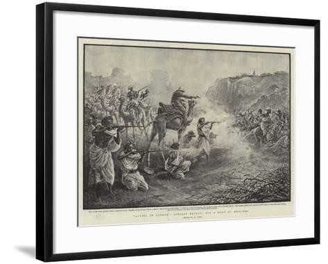 Africa in London, Somalis Beating Off a Band of Brigands-Henri Lanos-Framed Art Print