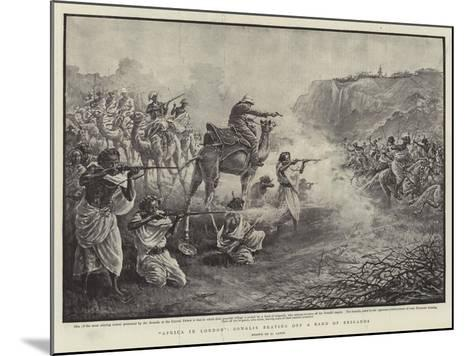Africa in London, Somalis Beating Off a Band of Brigands-Henri Lanos-Mounted Giclee Print