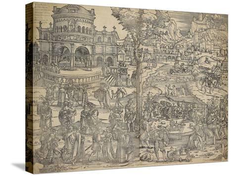 The Feast of Herod-Hans Sebald Beham-Stretched Canvas Print