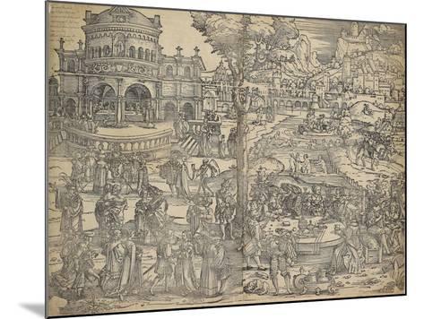 The Feast of Herod-Hans Sebald Beham-Mounted Giclee Print